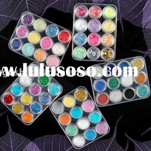 Glitter Powder Set 5 Mix Style Acrylic Nail Art