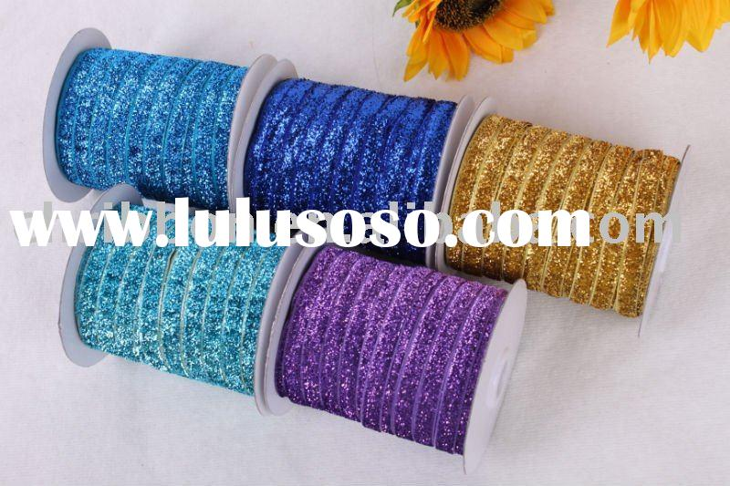 Gold Silver and Color Metallic Velvet Ribbon
