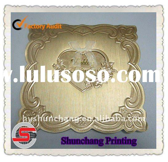 Gold stamping wedding invitation card printing