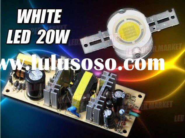 Guaranteed100%! Cool White 20W 1000LM High Power LED Light/Lamp +AC Driver