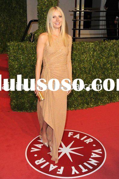 Gwyneth Paltrow 2011 Vanity Fair party one-shoulder Celebrity dresses Formal Gown