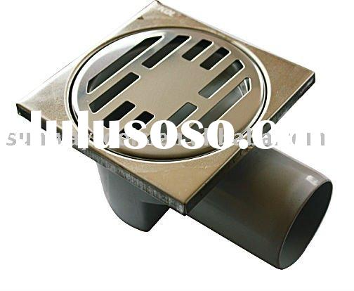 HIGH QUALITY STAINLESS STEEL FLOOR DRAINS SET WITH PLASTIC TRAP(FC024)
