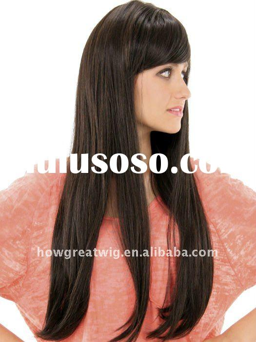 HOT Really fasion synthetic black hair wigs long beautiful hair