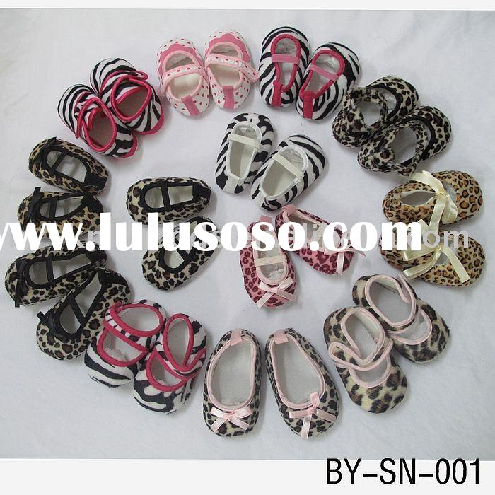 HOT SALE leopard and zebra print baby shoes