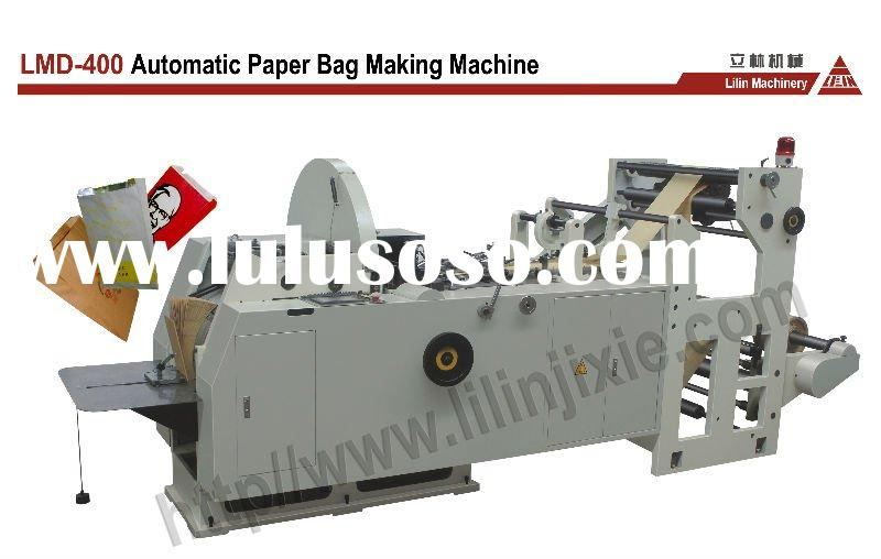 High Speed Automatic Kraft Paper Bag Machine