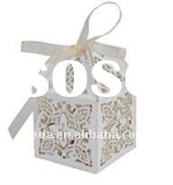 Hot 2012 wedding laser cut paper favor candy boxes