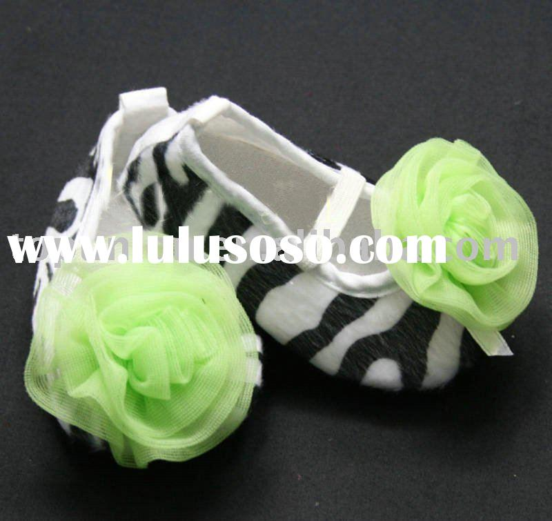 Hot! Cute Zebra Print baby shoes