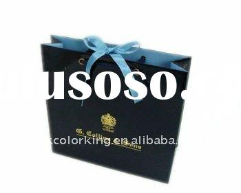 Hot Sell Gift Paper Bag With Satin Ribbon For Closure