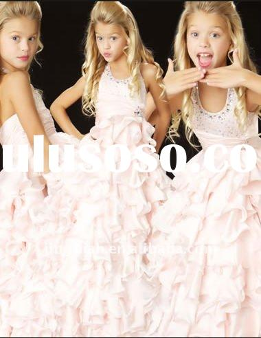 Hot Wonderful Pink Flower Girl Dress Kids Dresses for Girls GD18