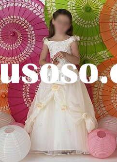 Ivory short sleeve flower girl dresses for weddings