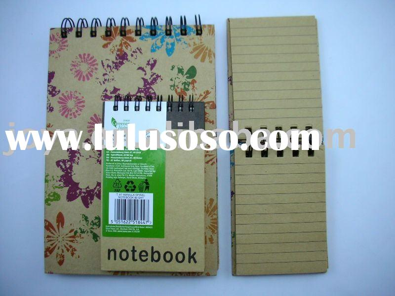 Kraft Paper Spiral Notebook