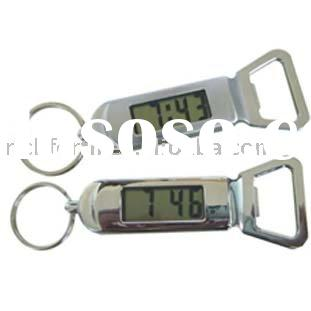 LCD clock with keychain and bottle opener promotional LCD clock promotional keychain with bottle ope