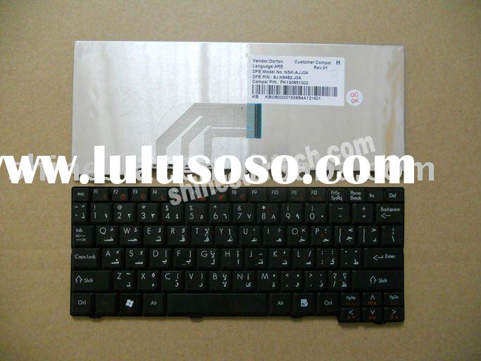 Laptop arabic keyboard for Acer ONE A0A150 black