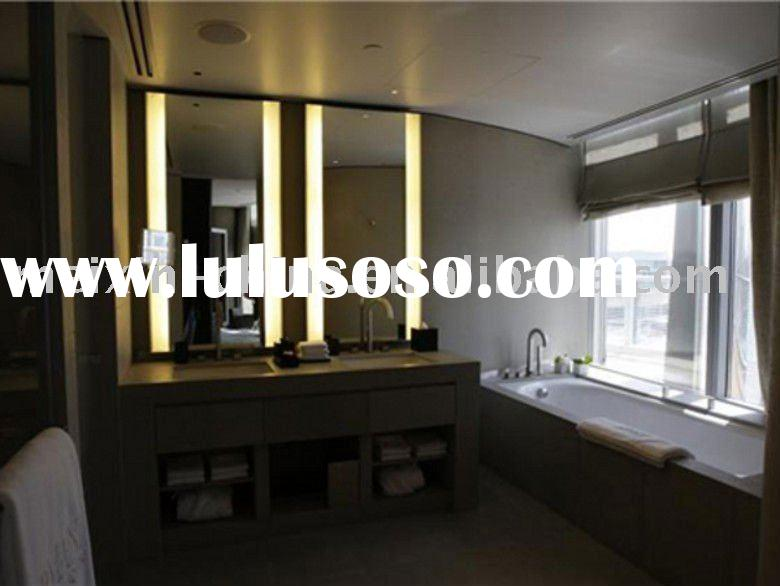 Large rectangular mirror of the bathroom mirror Mirror LED Lamp