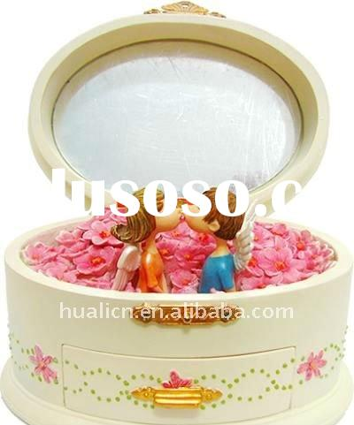 Luxury wooden wholesale wedding musical jewelry box
