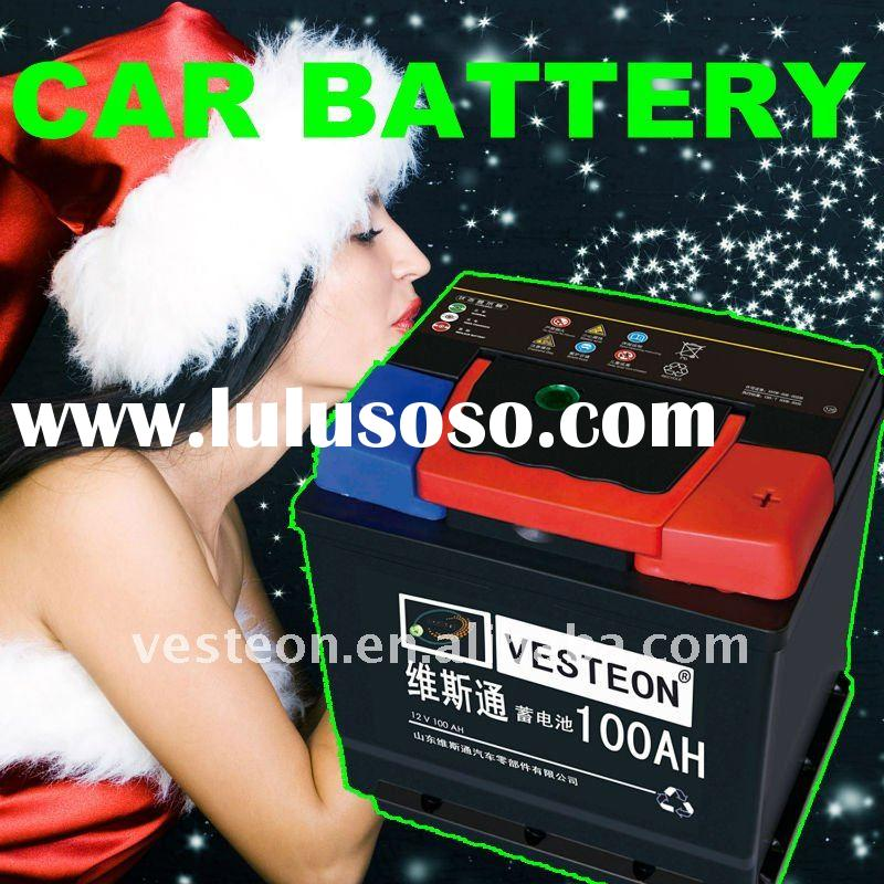 Maintenance free MF car battery 12N100AH