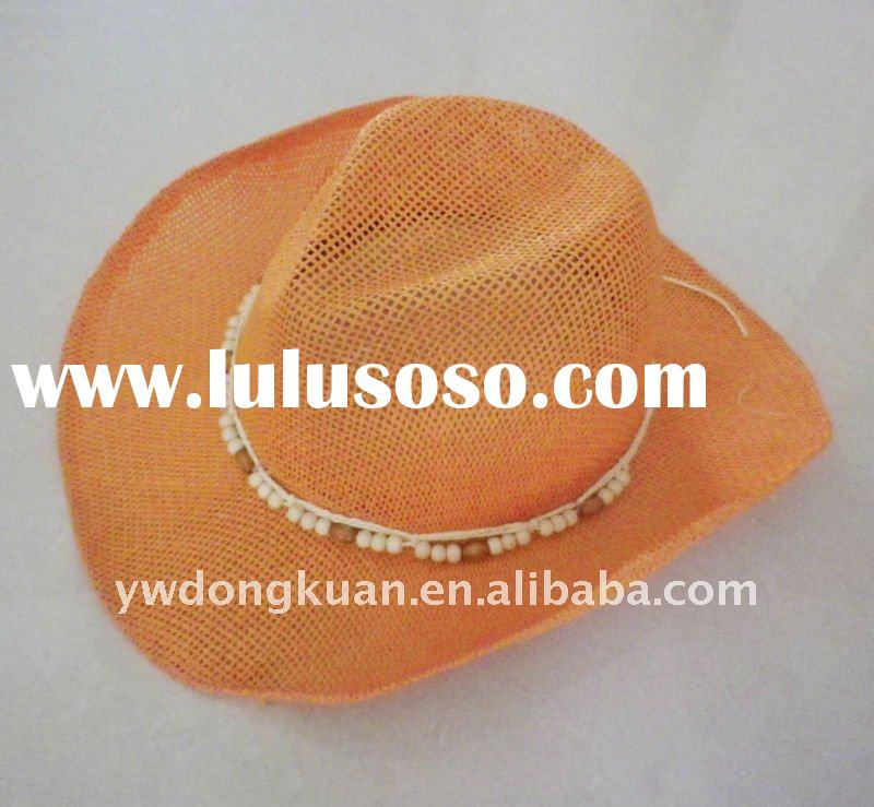 Mens' orange cowboy hat