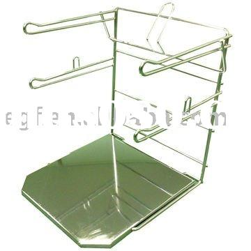 Metal Counter Plastic Grocery Bag Holder