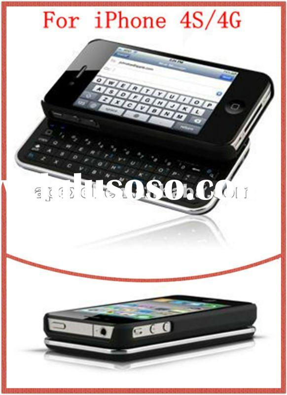 Mini bluetooth wireless keyboard case for iphone 4G/4S