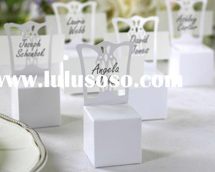 Miniature Chair Place Card Holder and Favor Box