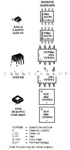 NCP3066MNTXG Display-LED Drivers