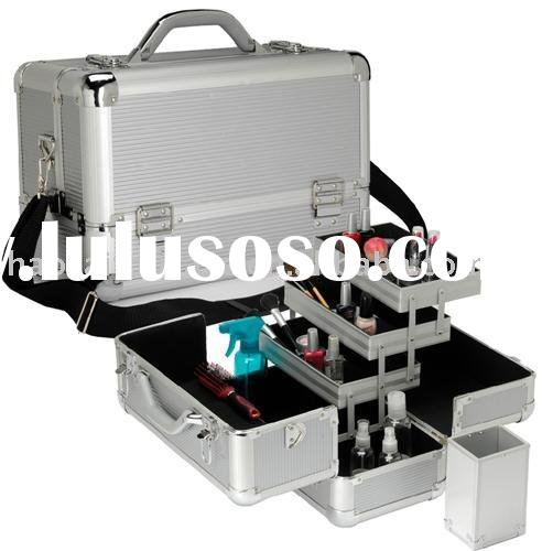 NEW ALUMINUM MAKEUP CASE COSMETIC TRAIN BOX BAG KIT