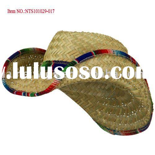 Straw Cowboy Hat Black Fashion Straw Cowboy Hats