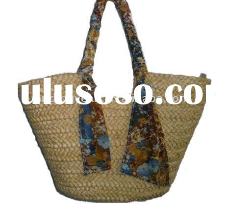 Natural Straw Beach Bag