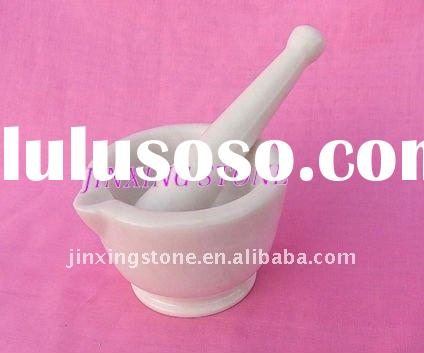 Natural White Marble Stone Mortar & Pestle