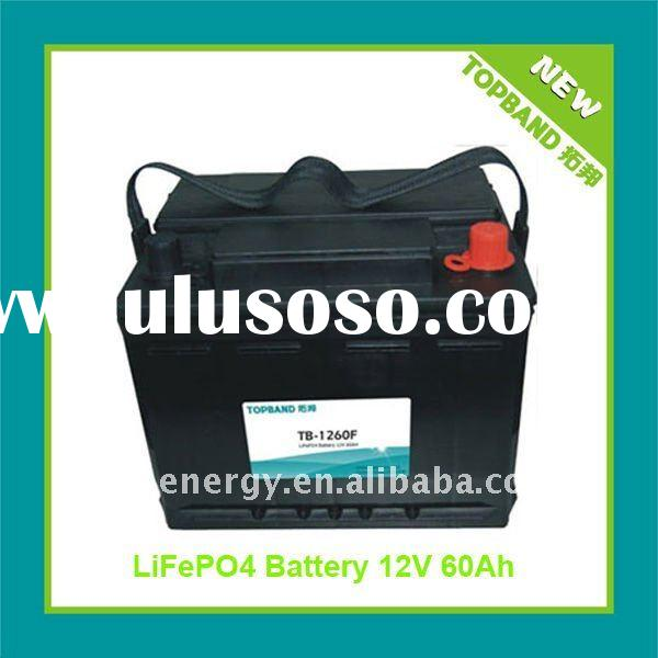 New Arrival 12V 60Ah LiFePO4 Start Car Battery Pack with BMS+Case