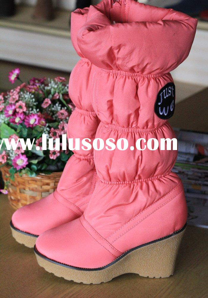 New Arrival! Fashion Women's Waterproof Snow Boots with Side Zipper DSC10-1 Grey