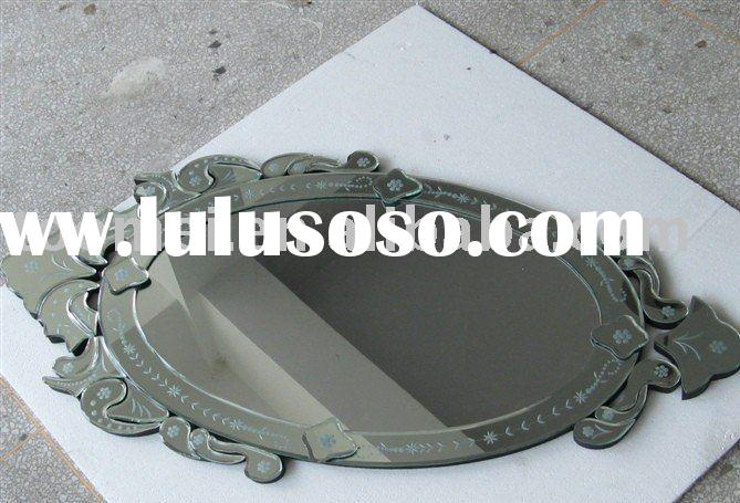 New Oval Venetian Etched Glass Wall Mirror