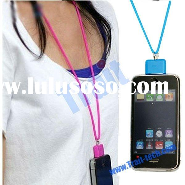 New Silicone Neck Strap Lanyard for iPhone 4 iPod Touch 4