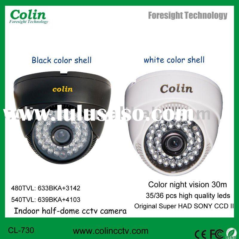 New White Light Technology color night vision indoor security camera Dome cctv