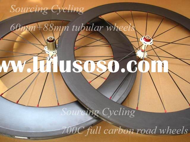 Newest Full carbon bike wheelset,60mm front wheel+88mm rear wheel 700C