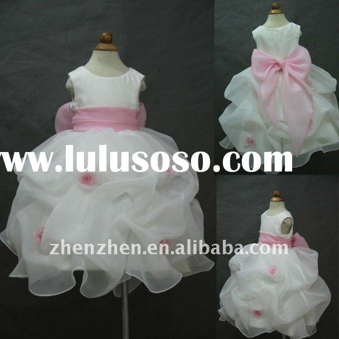 Newest style FG-011 zhenzhen designer flower girl dress 2011