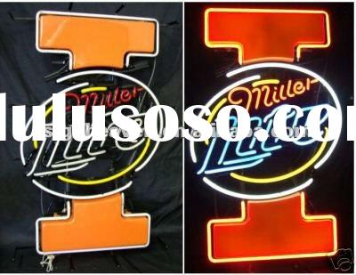 Nice Fighting Illini Illinois Miller Lite Neon Sign
