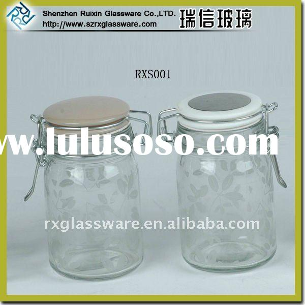 Nice Storage Glass Jar With Clip Lid