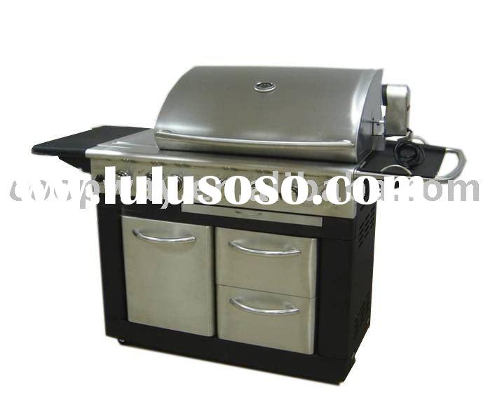 Outdoor BBQ grill , barbecue gas grill , tool chest ,