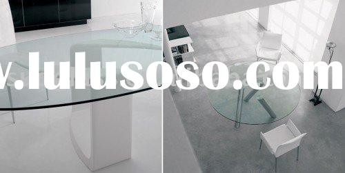 Oval Glass Table Top
