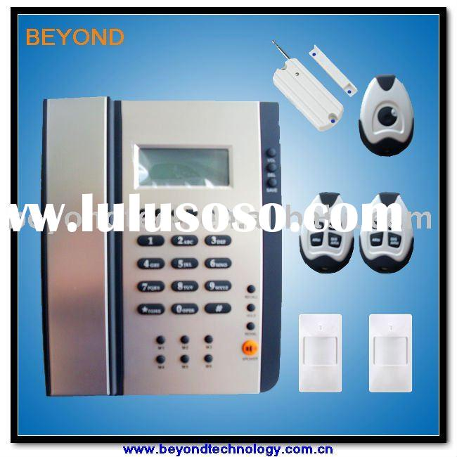 PSTN and gsm home security alarm system with built in phone