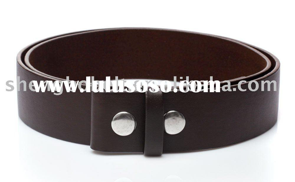 PU Belt, Leather Belt Without Buckle
