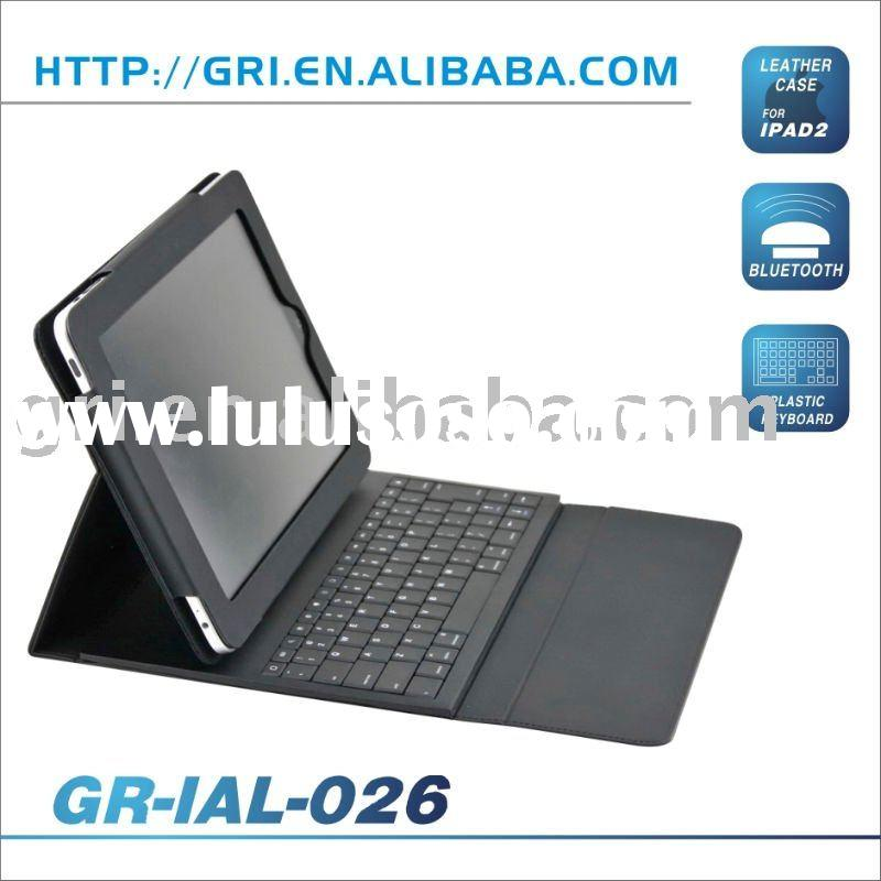 Plastic Bluetooth Keyboard with Leather Case for iPad