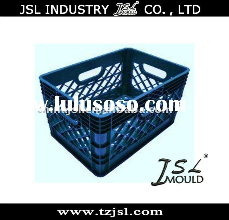 Plastic Milk Crates Storage Container Mould