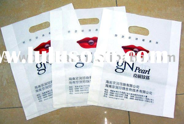 Plastic Shopping Bags with die-cut handle