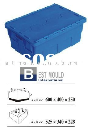 Plastic crate Stacking container, Plastic Container,Stacking Crate for component,Mould