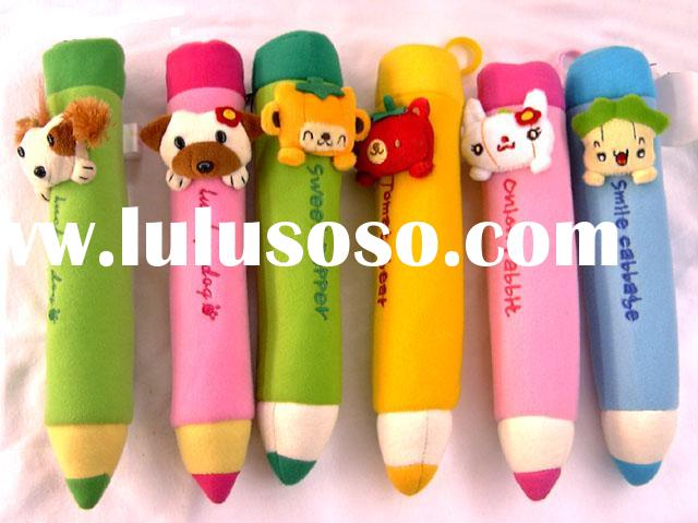 Plush pencil bag, vegetables pen pouch, animal pencil pouch, Children's Day gift