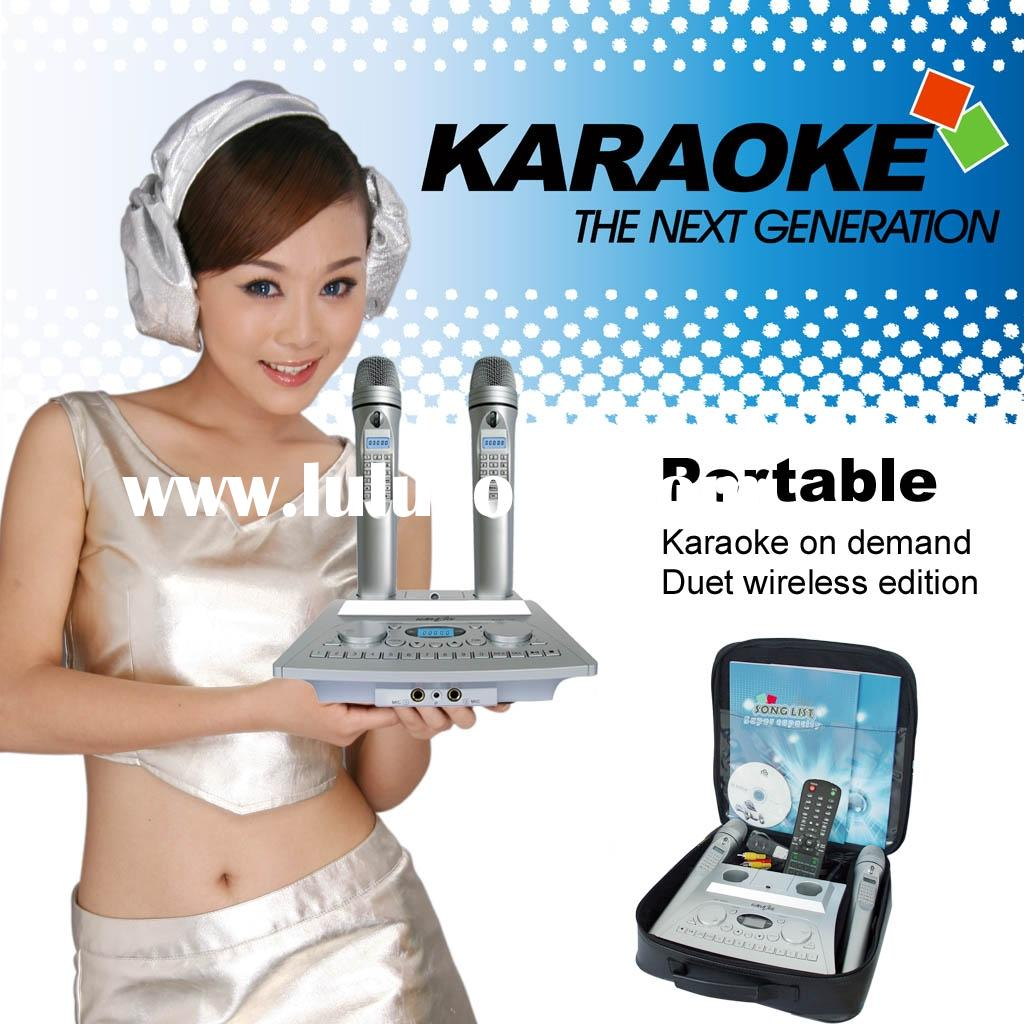 Portable Karaoke Machine,Wireless karaoke system,KTV,Midi karaoke player,Support HDD,SD CARD