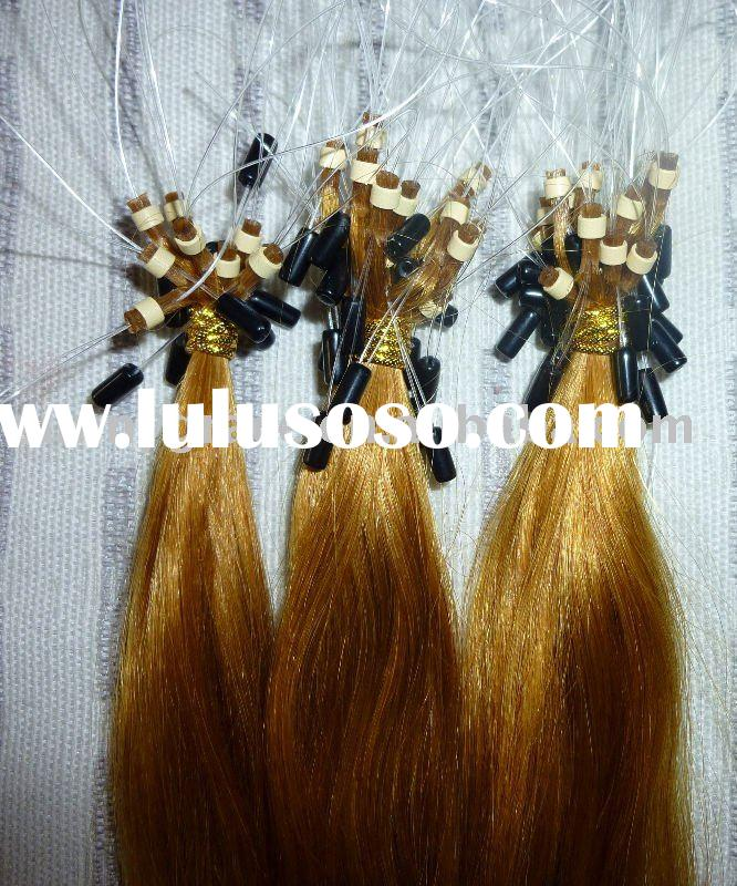 Pre-bonded easy loop hair extension/nail hair/micro ring human hair