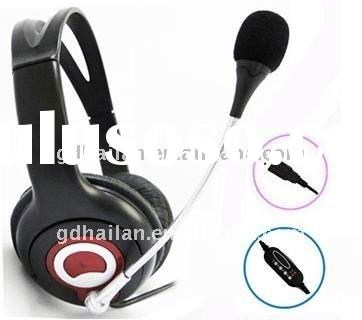 Professional Call center USB headset/headphone telephone,with microphone,DC plug,RJ11 Plug